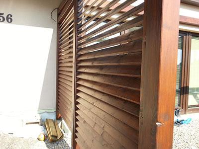 Dřevěné venkovní žaluzie